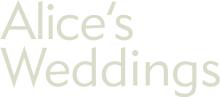 Alice's Weddings logo